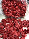 Розы из латекса, фиолетовый с фатином (ФОМ, FOAM) 500 шт пачка (для мишек), фото 5