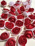 Розы из латекса, фиолетовый с фатином (ФОМ, FOAM) 500 шт пачка (для мишек), фото 6