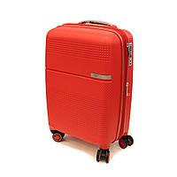 Чемодан дорожный малый на 4 колесах Airtex 635 Mini красный, фото 1
