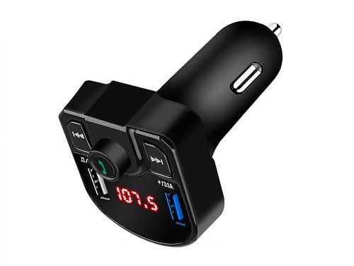 Автомобильный FM-модулятор M9 Bluetooth, Handsfree, 2x USB, MicroSD, 3.1А