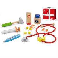 Игровой набор Viga Toys Чемоданчик врача игрушки для мальчика девочки детские развивающие интерактивные