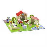 Игровой набор Viga Toys Ферма 30 элементов игрушки для мальчика девочки детские развивающие интерактивные