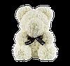 Мишка из 3D роз 40 см белый, фото 2