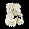 Мишка из 3D роз 40 см белый, фото 3