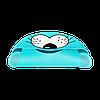 Слюнявчик силиконовый Zupo Crafts голубой, фото 3