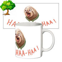 Чашка с принтом 63410 Ленивец Блиц