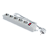 Фильтр-удлинитель сетевой LogicPower LP-X5, 5 розеток, цвет-серый, 1,8 m, фото 2