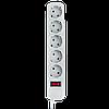 Фильтр-удлинитель сетевой LogicPower LP-X5, 5 розеток, цвет-серый, 1,8 m, фото 3