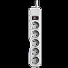 Фильтр-удлинитель сетевой LogicPower LP-X5, 5 розеток, цвет-серый, 4,5 m, фото 3