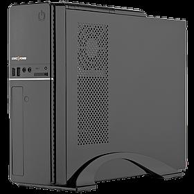 Корпус Slim LP S607 BK + Блок питания Micro ATX 400W 8см