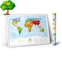 Скретч карта світу Kids Animals