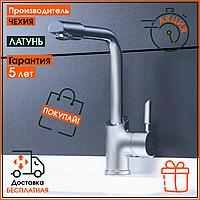 Смеситель латунный для кухонной мойки на кухню Q-tap Elit СRM 007F