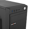 Корпус LP 2008-400W 8см black case chassis cover с 2xUSB2.0 и 1xUSB3.0, фото 4