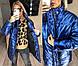 """Женская тёплая куртка до больших размеров """"Плащёвка-Кожа Стойка"""" в расцветках (54-580), фото 8"""