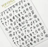 Наклейки на ногти (минимализм)