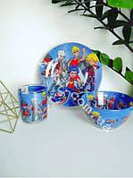 Детский набор стеклянной посуды Бей блейд