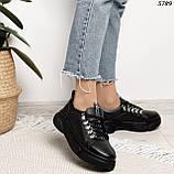 Женские кроссовки натур кожа 5789, фото 2