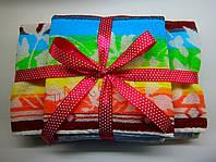 """Подарунковий набір махрових жакардових рушників """"СЕРЕЖКИ радужка"""", фото 1"""