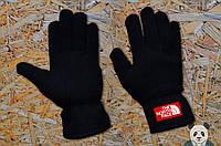 Перчатки зимние теплые флисовые качественные черные The North Face Gloves