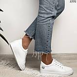 Женские кроссовки белые 5775, фото 3