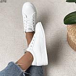 Женские кроссовки белые 5775, фото 4