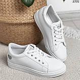 Женские кроссовки белые 5775, фото 5