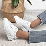 Женские кроссовки белые 5775, фото 6