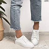 Женские кроссовки белые 5775, фото 7