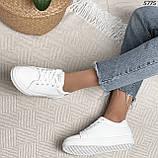 Женские кроссовки белые 5775, фото 9