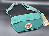 Женская вместительная бананка, поясная сумка канкен желтая Fjallraven Kanken на пояс, через плечо, фото 5