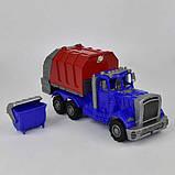 Машина пластиковая Мусоровоз, синяя, фото 2