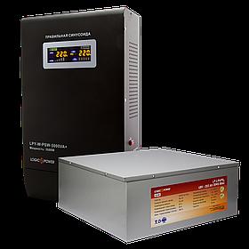 Комплект резервного питания Logicpower W5000 + литеевая (LifePo4) батарея 11600 ватт