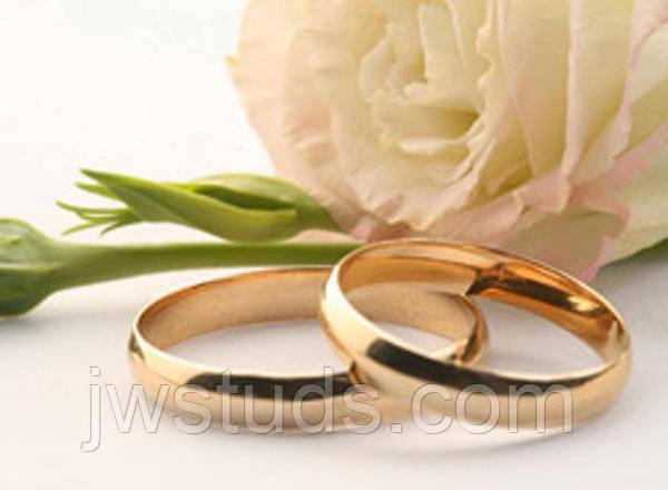 Обручальное кольцо 3 mm Ювелирная бижутерия Размер 15.7