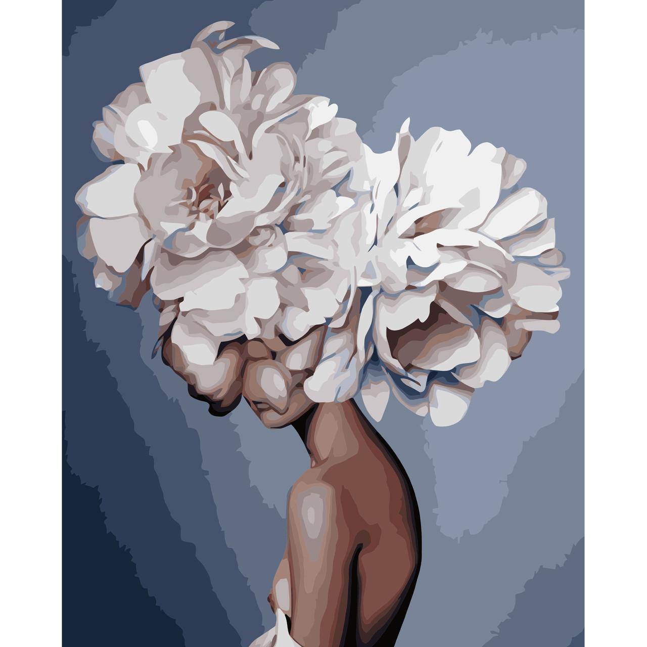 Картина по номерам Голова цветок 40 х 50 см Strateg VA 1175