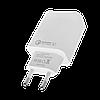 Быстрое зарядное устройство LP AC-010 USB 5V 3А Quick Charge + кабель Type-C/OEM 2 м White, фото 3
