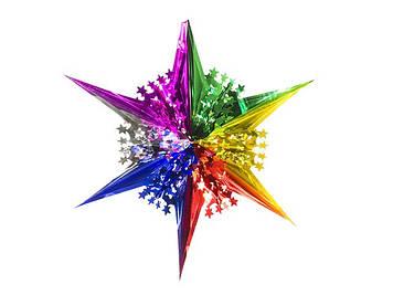 Зірка фольгована різдв`яна серед. з дірками(М)(10)