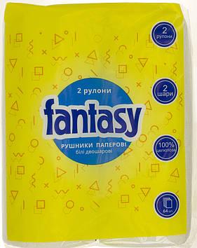 "Рушник паперовий ""Fantasy"" біл. (2шт) №0296(12)"