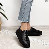 Женские кроссовки черные 5791, фото 2