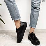 Женские кроссовки черные 5791, фото 3