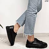 Женские кроссовки черные 5791, фото 4