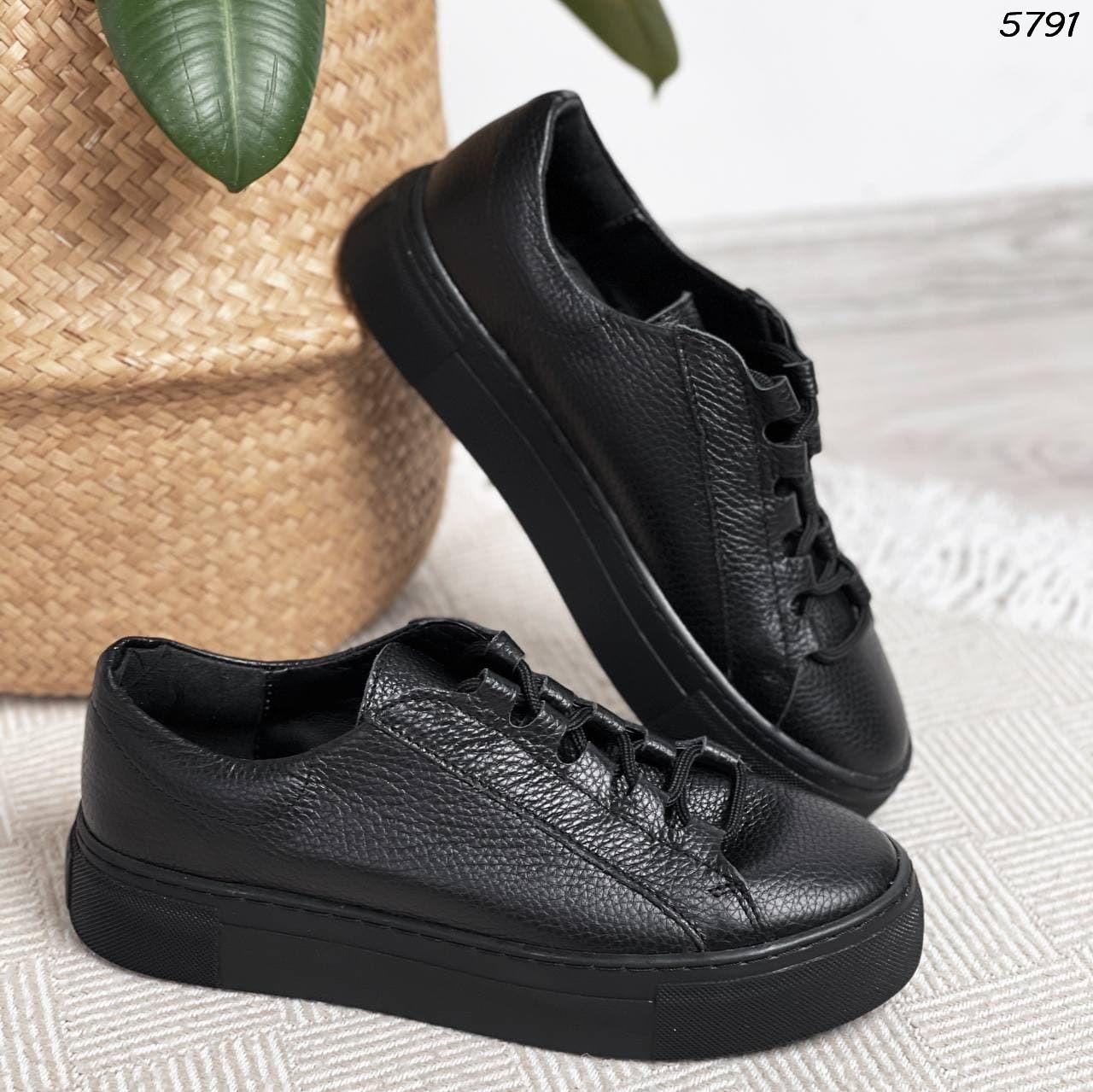 Женские кроссовки черные 5791