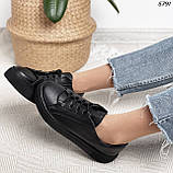Женские кроссовки черные 5791, фото 5