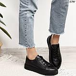 Женские кроссовки черные 5791, фото 6