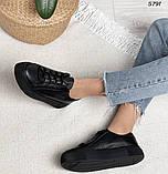 Женские кроссовки черные 5791, фото 7