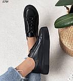 Женские кроссовки черные 5791, фото 8