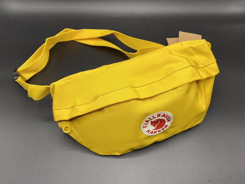 Женская вместительная бананка, поясная сумка канкен желтая Fjallraven Kanken на пояс, через плечо