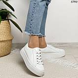 Женские кроссовки белые 5793, фото 2