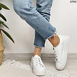 Женские кроссовки белые 5793, фото 5