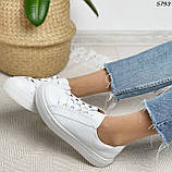 Женские кроссовки белые 5793, фото 6