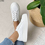 Женские кроссовки белые 5793, фото 7